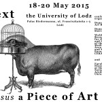 Conference: Text versus a piece of art
